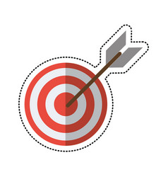 Cartoon target arrow strategy market vector