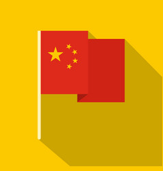 chinese national flag icon flat style vector image vector image