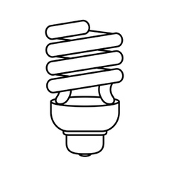 Light bulb icon Save energy design vector image vector image