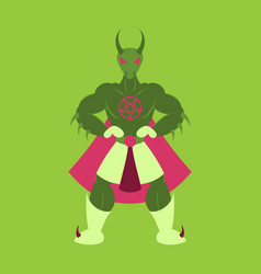 Man superhero superhero standing icon in flat vector