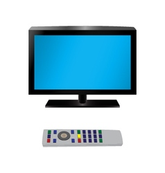 TV and remote control vector image