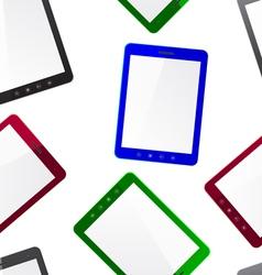 Vertical Tablet computer seamless wallpaper vector image vector image