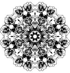 Vintage decorative lace round pattern vector image