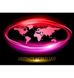 world abstract circle on black purple vector image vector image