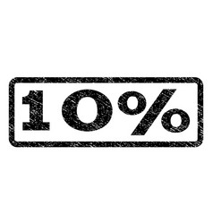 10 percent watermark stamp vector