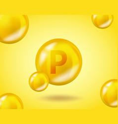 3d vitamin drop p flavonoid pill capsule vector