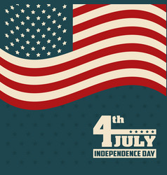 4th july independence day flag united states of vector image