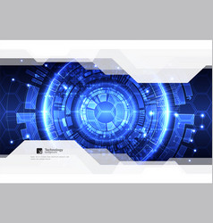 Abstract blue digital communication technology vector