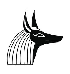 Anubis head icon simple style vector