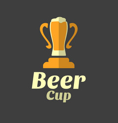 Beer cup flat for icon vector