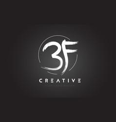Bf brush letter logo design artistic handwritten vector