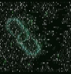 Blockchain hyperlink symbol binary code vector