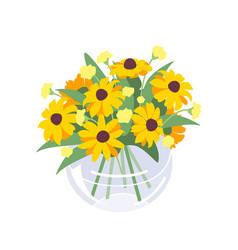 bunch blooming seasonal flower vector image