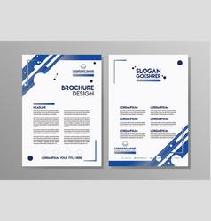business brochure flyer design template vector image