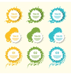 Business Colorful Splashes Labels vector image