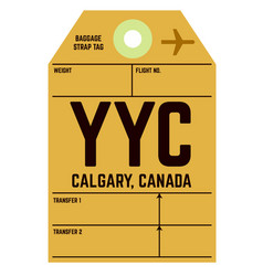 Calgary airport luggage tag vector