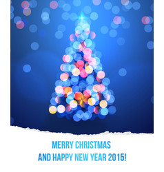 card with Christmas tree lights vector image