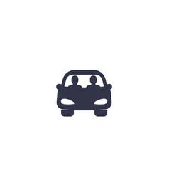 Carpool icon vector