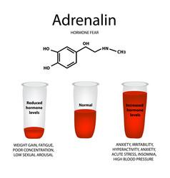 Chemical molecular formula adrenaline hormone vector