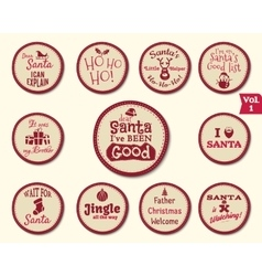 Christmas Badge and Design Elements with funny vector image