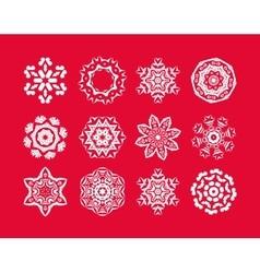 Christmas snowflakes set vector image