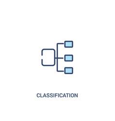 Classification concept 2 colored icon simple line vector