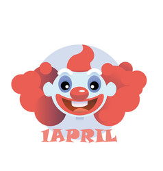 clown flat icon cartoon head vector image