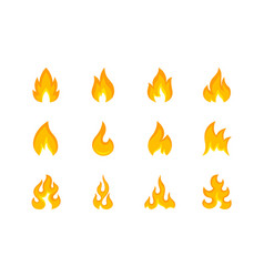collection multicolored shapes flame vector image