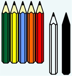 Colorful set of pencils vector image