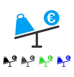 Euro trade swing flat icon vector