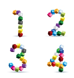 Figures made colored blocks vector