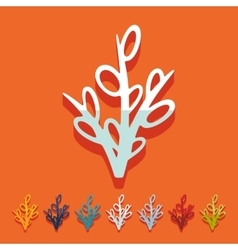 Flat design willow vector
