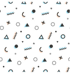 Geometric seamless pattern background memphis art vector