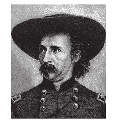 George armstrong custer vintage vector