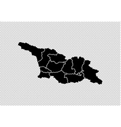 Georgia map - high detailed black map with vector