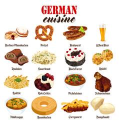 German food cuisine vector