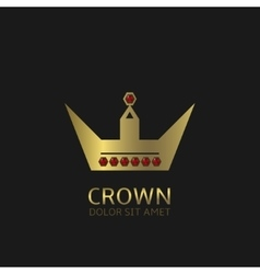 Golden Crown symbol vector image