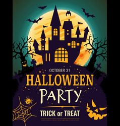 halloween poster scary party invitation flyer vector image
