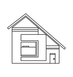 House with sloping roof icon outline style vector