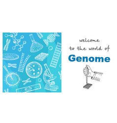 Human genome project health and biochemistry vector