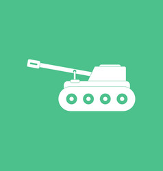 Icon military tank vector