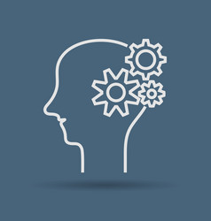 icon of thinking manconcept brainstorming vector image