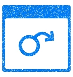 Impotence Calendar Page Grainy Texture Icon vector image