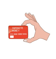Infinite money card vector