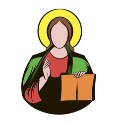 Jesus christ icon cartoon vector