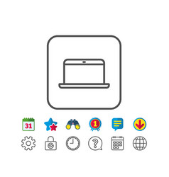 Laptop computer icon notebook sign vector
