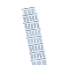 leaning tower pisa architecture landmark vector image