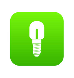light bulb icon digital green vector image