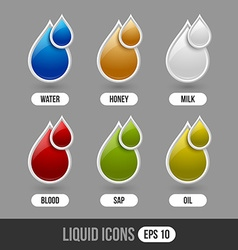 Liquid icons vector image