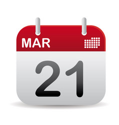 march calendar stand up vector image